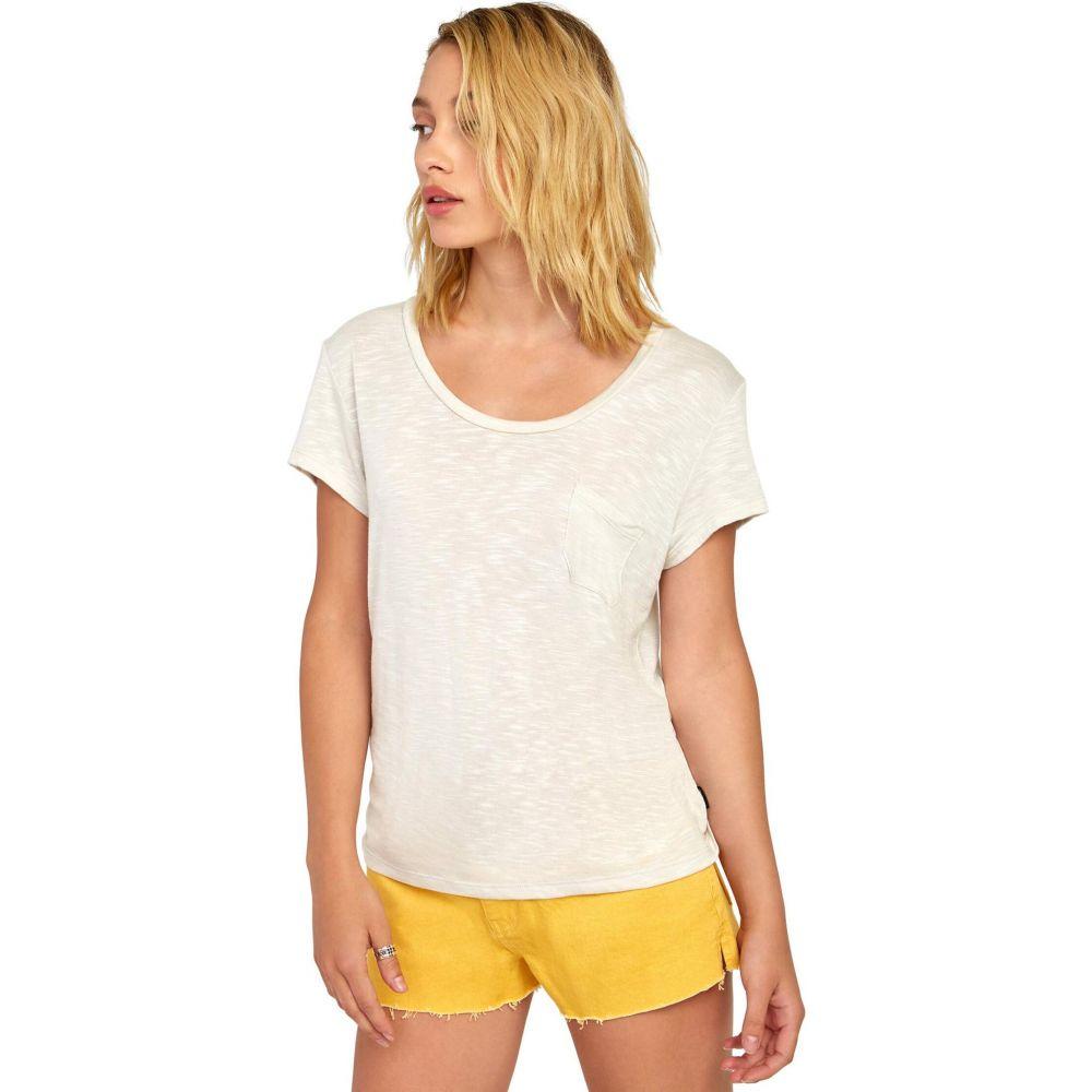 ルーカ RVCA レディース Tシャツ トップス【Vinyl Jersey Knit T-Shirt】Oatmeal