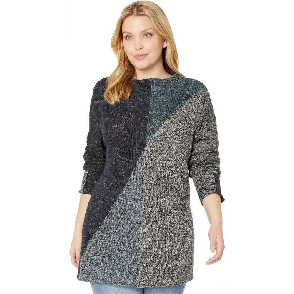 ニックゾー NIC+ZOE レディース ニット・セーター 大きいサイズ トップス【Plus Size Chilled Angle Sweater】Multi