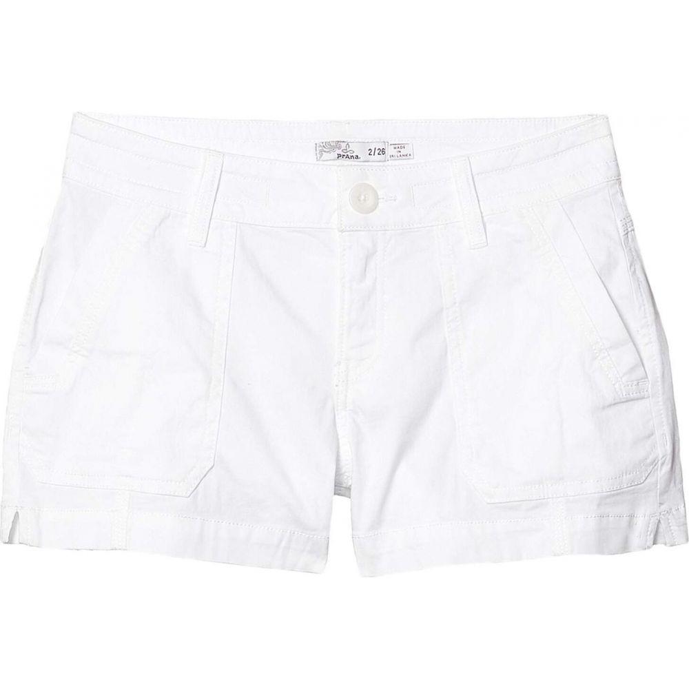 プラーナ Prana レディース ショートパンツ ボトムス・パンツ【3' Elle Shorts】White