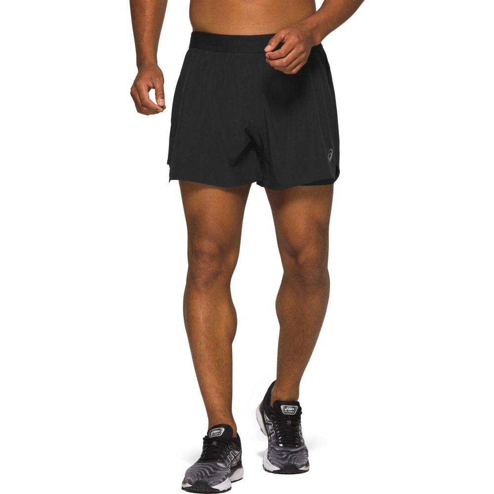 アシックス ASICS メンズ ショートパンツ ボトムス・パンツ【Road 2-in-1 5' Shorts】Performance Black
