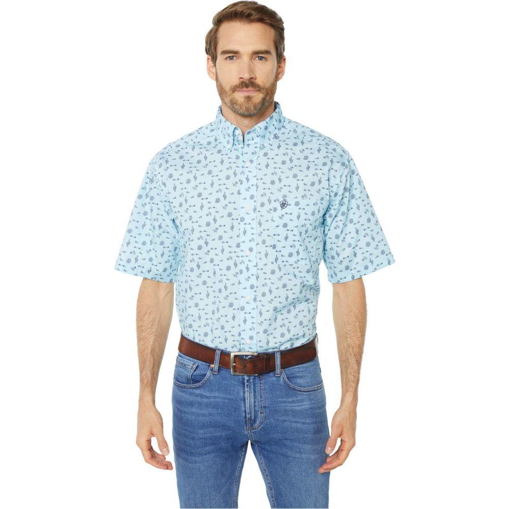 アリアト Ariat メンズ シャツ トップス【Norristown Print Shirt】Crystal Blue