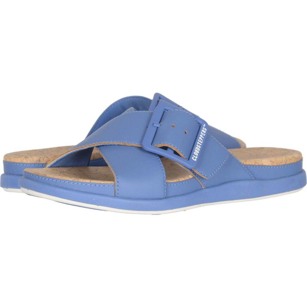 クラークス Clarks レディース サンダル・ミュール シューズ・靴【Step June Shell】Blue Synthetic