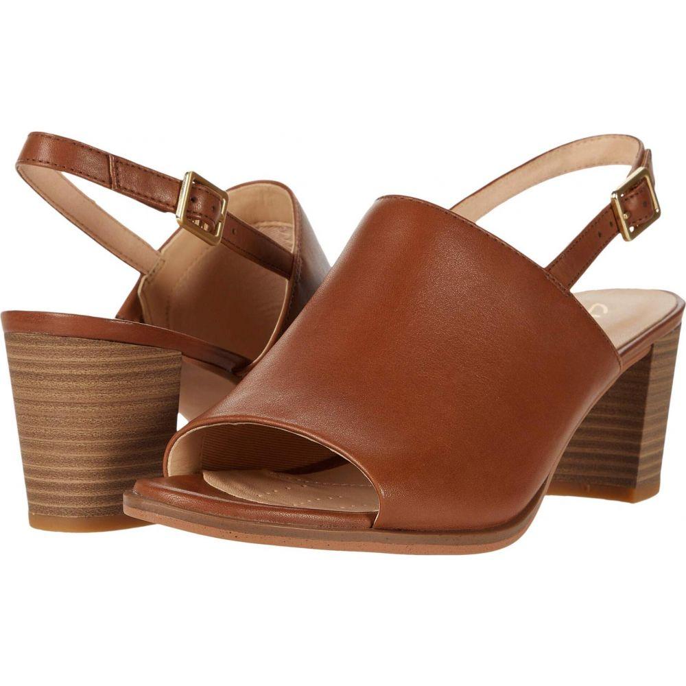 クラークス シューズ・靴【Kaylin レディース Sling】Tan Leather サンダル・ミュール Clarks