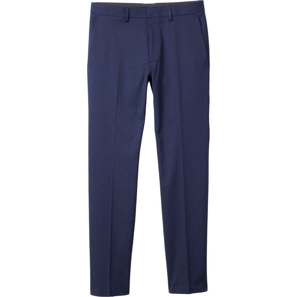 ケネス コール Kenneth Cole Reaction メンズ スラックス ボトムス・パンツ【Stretch Glen Windowpane Slim Fit Flat Front Flex Waistband Dress Pants】Navy
