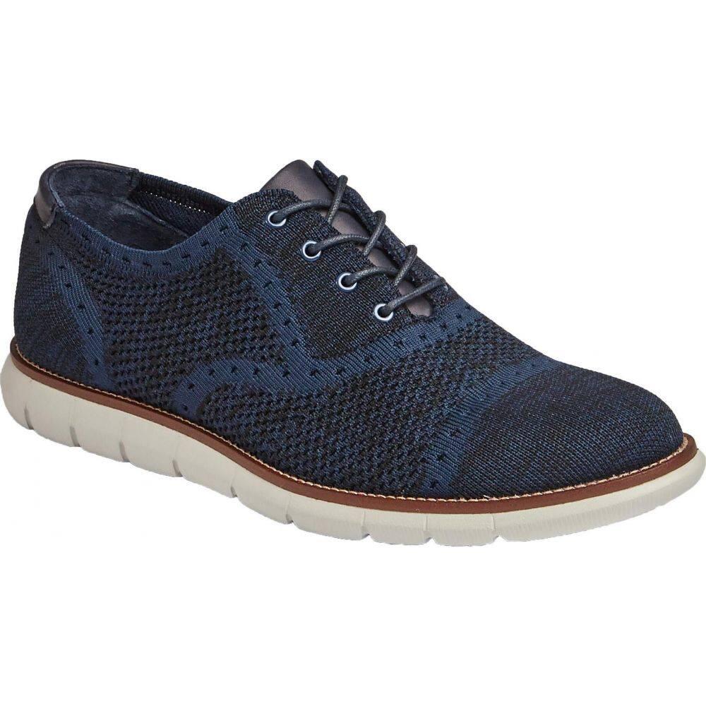 ジョンストン&マーフィー Johnston & Murphy メンズ 革靴・ビジネスシューズ シューズ・靴【Milson Knit Cap Toe】Dark Navy Knit