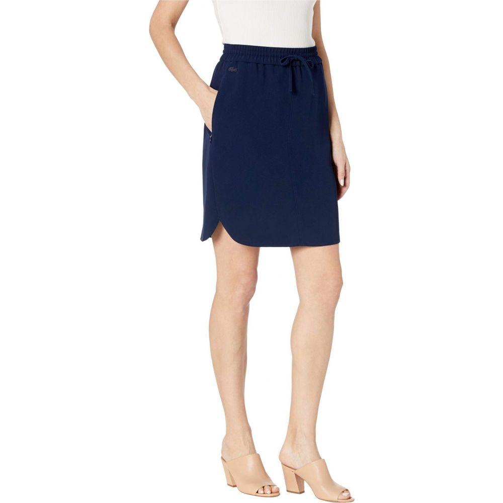 ラコステ Lacoste レディース スカート 【Elaticated Belt Skirt】Navy Blue