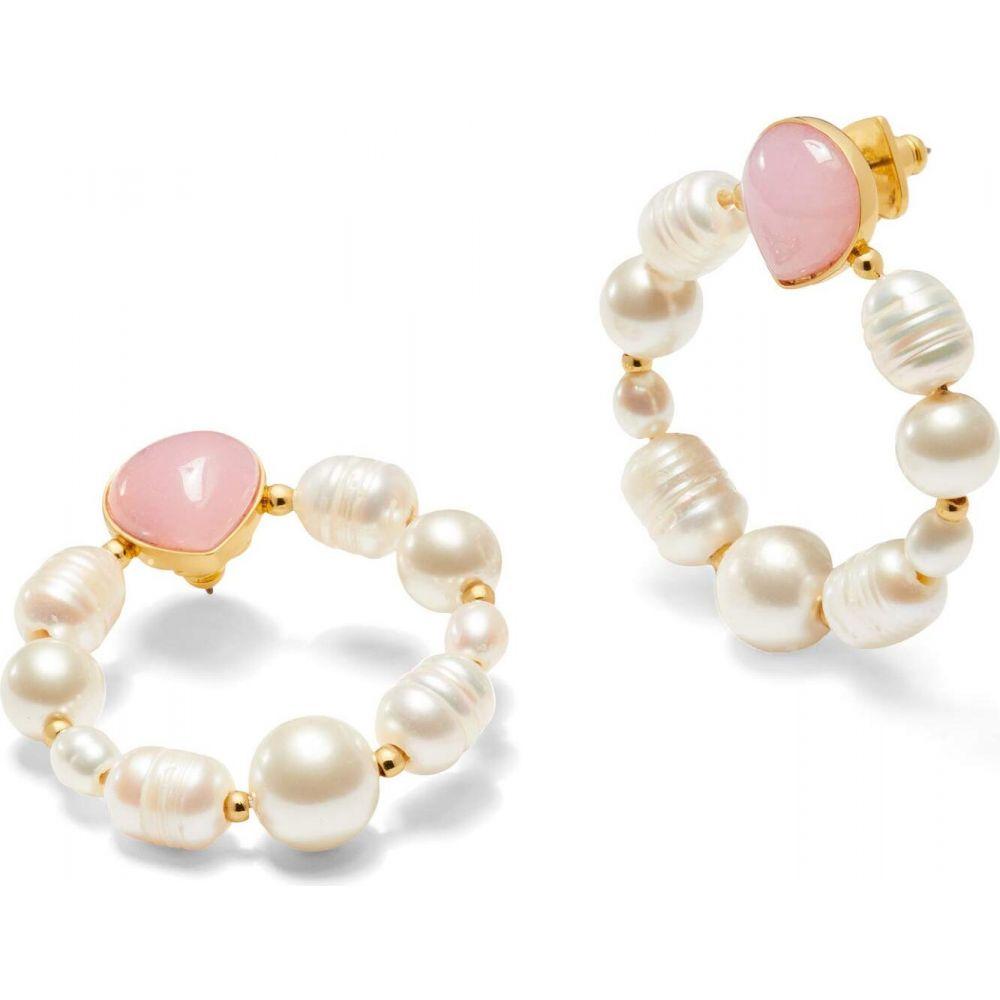 ケイト スペード Kate Spade New York レディース イヤリング・ピアス ジュエリー・アクセサリー【Pearl Drops Hoops Earrings】Pink