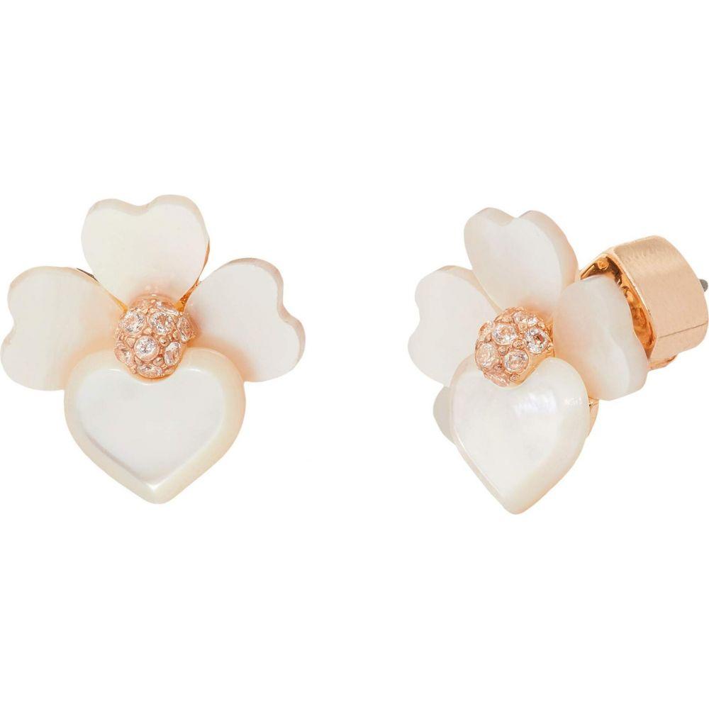 ケイト スペード Kate Spade New York レディース イヤリング・ピアス ジュエリー・アクセサリー【Precious Pansy Studs Earrings】Cream Multi/Rose Gold