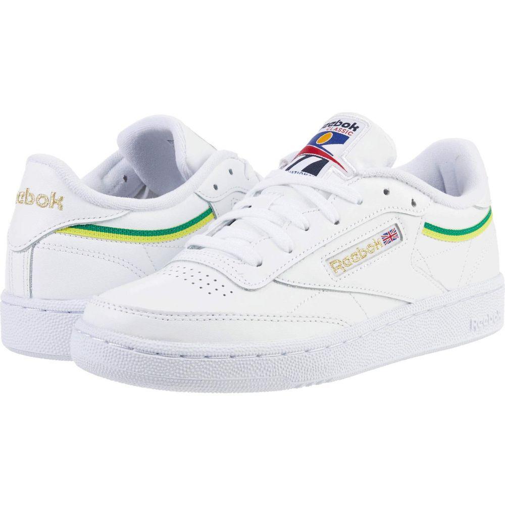 リーボック Reebok Lifestyle レディース スニーカー シューズ・靴【Club C 85】White/Hero Yellow/White