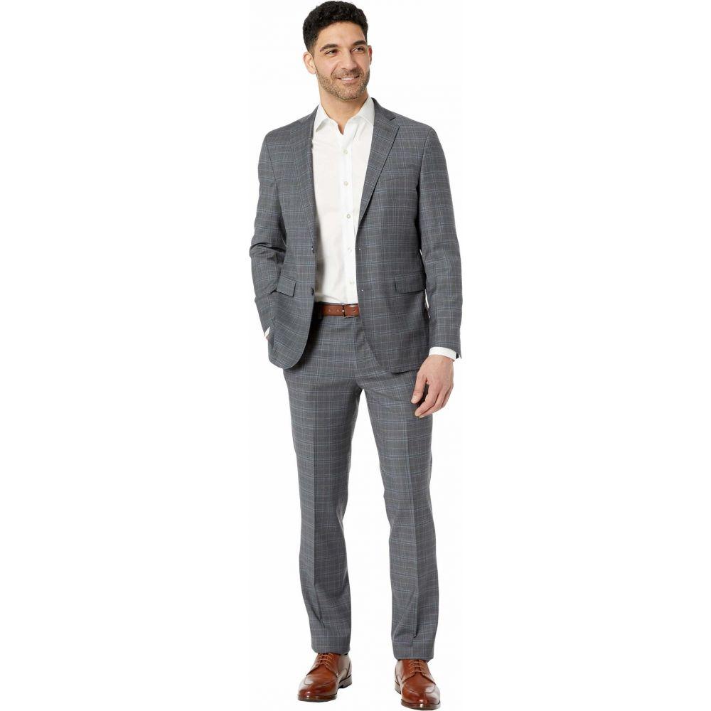 コールハーン Cole Haan メンズ スーツ・ジャケット アウター【Slim Fit Plaid Suit】Grey/Blue Plaid