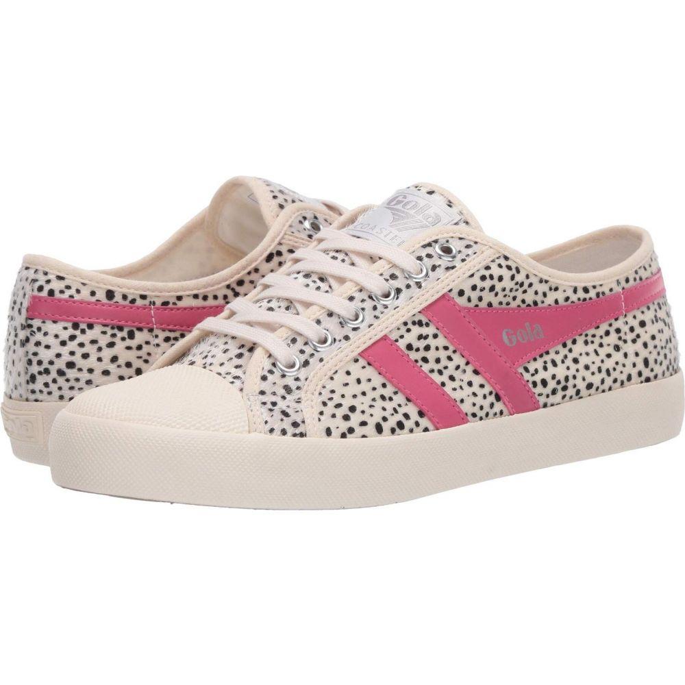 ゴーラ Gola レディース スニーカー シューズ・靴【Coaster Cheetah】Off-White/Fluro Pink