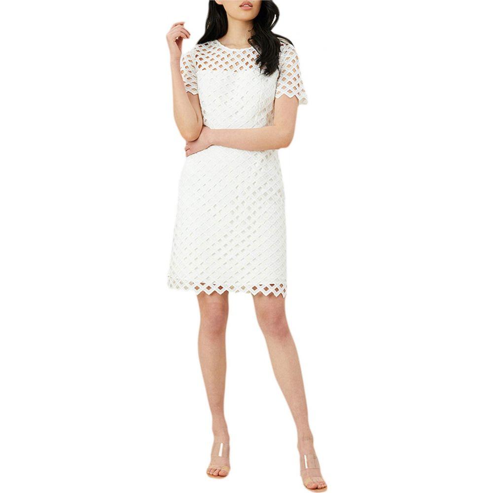 ミリー Milly レディース ワンピース ワンピース・ドレス【Lattice Embroidery Angela Dress】White
