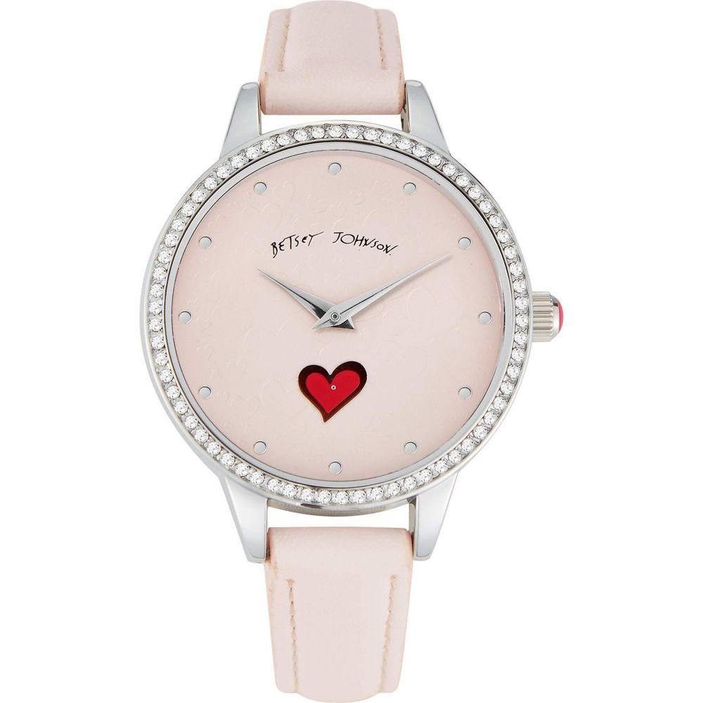 ベッツィ ジョンソン Betsey Johnson レディース 腕時計 【Sweeping Icons Watch】Pink