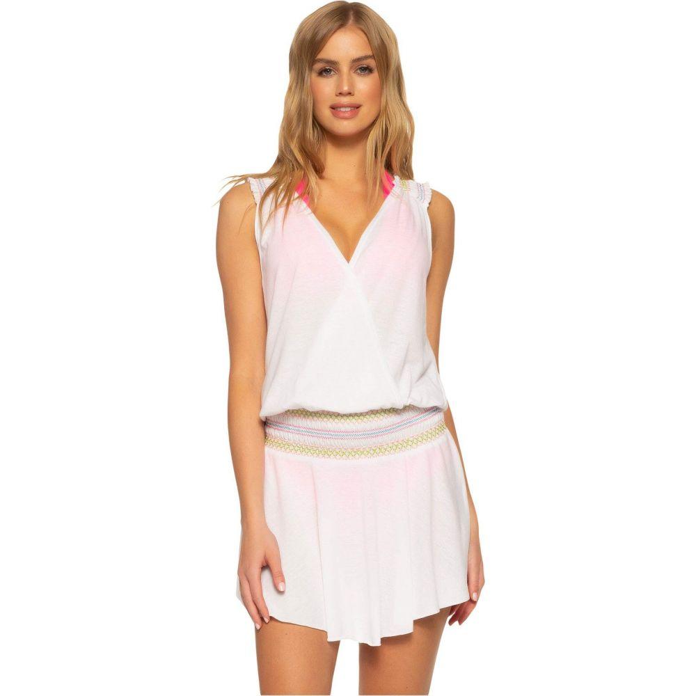 ソルーナ スイム SOLUNA SWIM レディース ビーチウェア ワンピース・ドレス 水着・ビーチウェア【Malibu Mini Dress】White