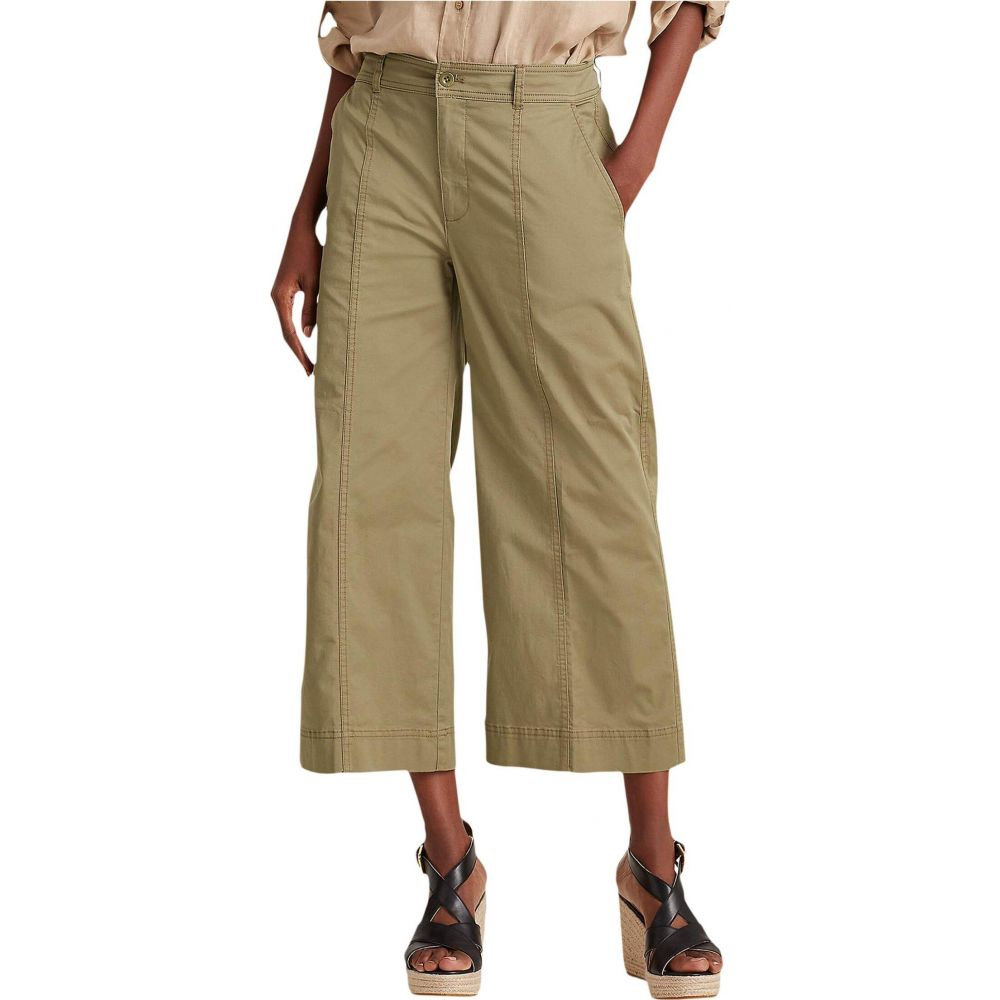 ラルフ ローレン LAUREN Ralph Lauren レディース ボトムス・パンツ 【Cotton Twill Wide-Leg Pants】Dry Olive