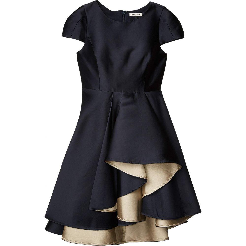 ホルストン ヘリテイジ Halston レディース ワンピース ワンピース・ドレス【Dramatic Skirt Dress】Navy/Champagne