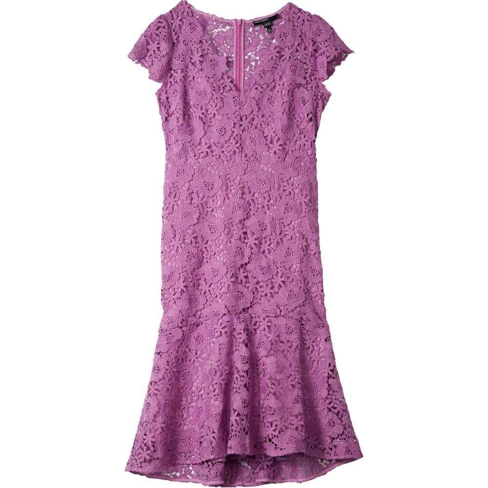 マギーロンドン Maggy London レディース ワンピース ワンピース・ドレス【Floral Lace Flounced High-Low Dress】Lavender