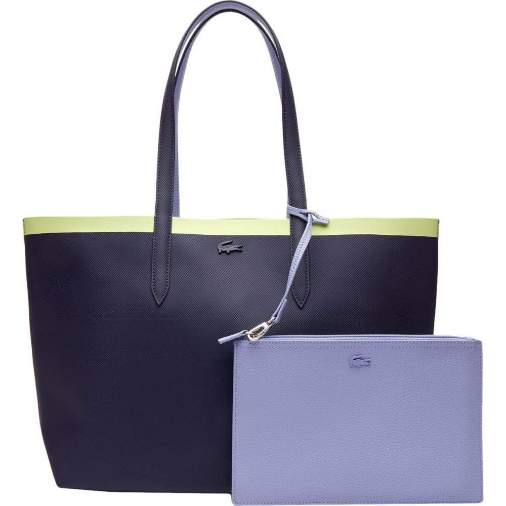 ラコステ Lacoste レディース トートバッグ バッグ【Anna Fantaisie Shopping Bag】Peacoat/Purple