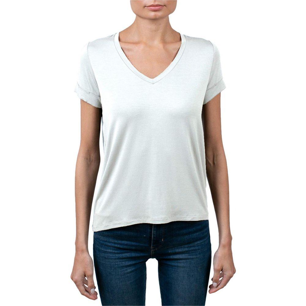 マジェスティック Majestic Filatures レディース Tシャツ Vネック トップス【Soft Touch Semi Relaxed V-Neck T-Shirt】Blanc