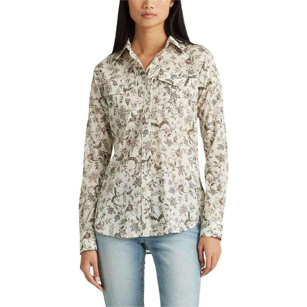 ラルフ ローレン LAUREN Ralph Lauren レディース ブラウス・シャツ トップス【Petite Floral Cotton Shirt】Mascarpone Cream Multi