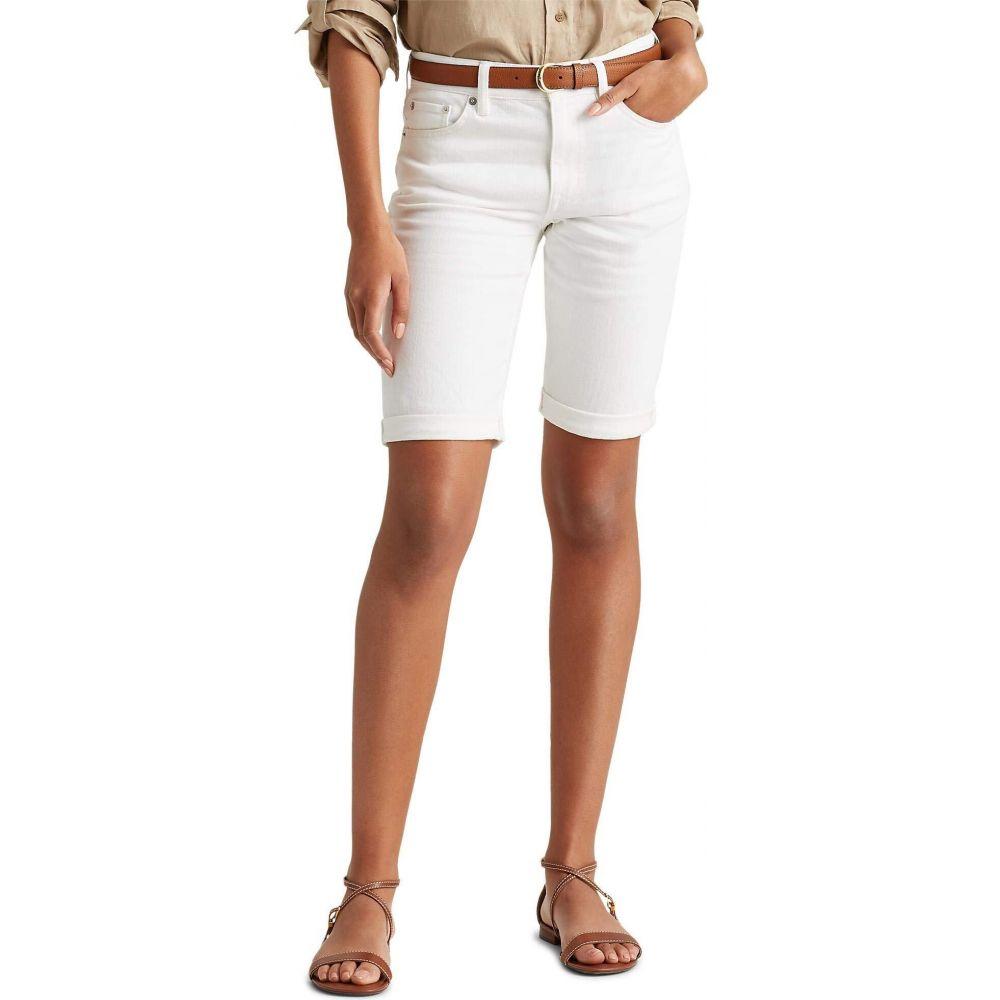 ラルフ ローレン LAUREN Ralph Lauren レディース ショートパンツ ボトムス・パンツ【Petite Stretch Cotton Blend Shorts】White Wash