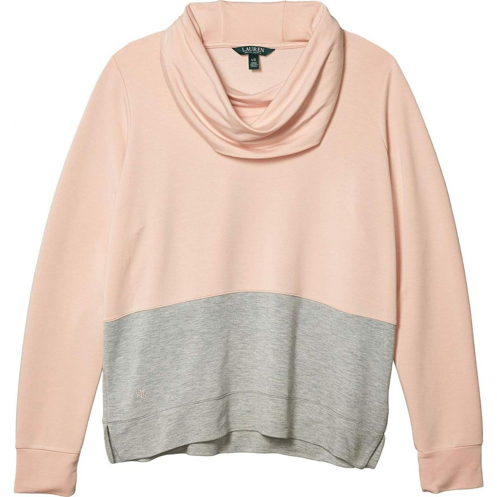 ラルフ ローレン LAUREN Ralph Lauren レディース トップス 【Color-Blocked Cowl Neck Top】Pink Hydrangea/Pearl Grey Heather