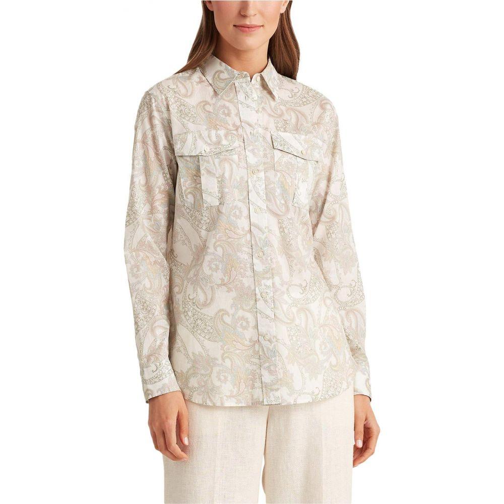 ラルフ ローレン LAUREN Ralph Lauren レディース ブラウス・シャツ トップス【Floral Cotton Shirt】Mascarpone Cream Multi