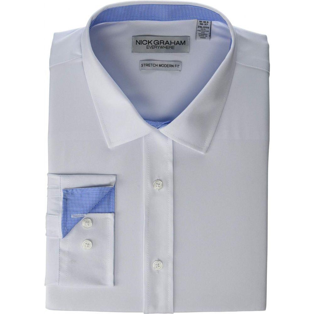 ニック グラハム Nick Graham メンズ シャツ トップス【Solid Stretch Dress Shirt】White