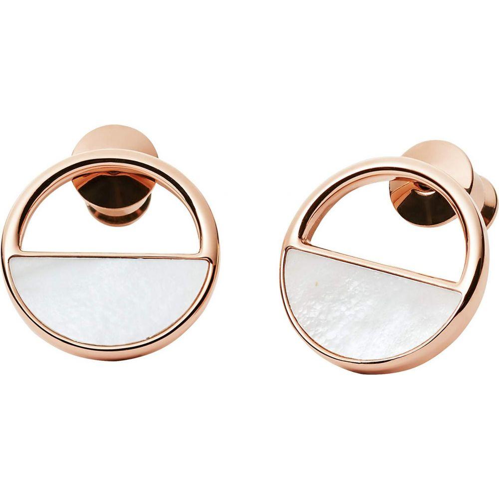 スカーゲン Skagen レディース イヤリング・ピアス ジュエリー・アクセサリー【Agnethe Rose-Tone and Mother-of-Pearl Stud Earrings】Rose Gold