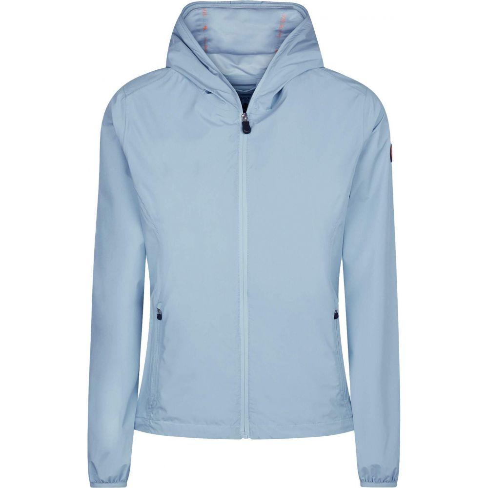 セイブ ザ ダック Save the Duck レディース ジャケット フード アウター【Maty X Hooded Jacket】Dusty Blue