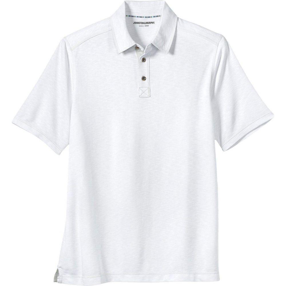 ジョンストン&マーフィー Johnston & Murphy レディース ポロシャツ トップス【Slub Polo】White