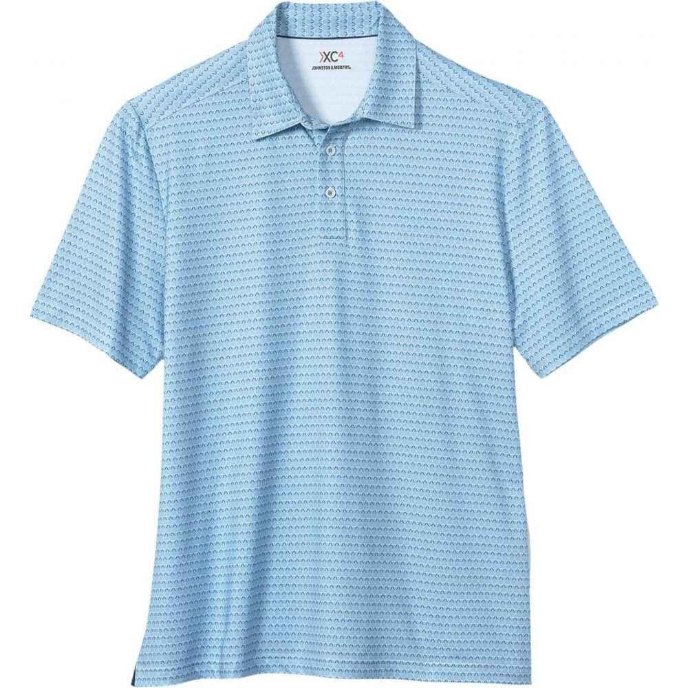 ジョンストン&マーフィー Johnston & Murphy メンズ ポロシャツ トップス【XC4 Golf Club Polo】Blue