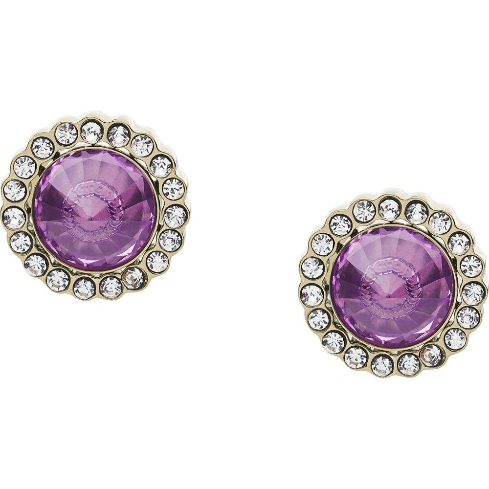 フォッシル Fossil レディース イヤリング・ピアス ジュエリー・アクセサリー【Power of Crystals Stainless Steel Stud Earrings】Purple