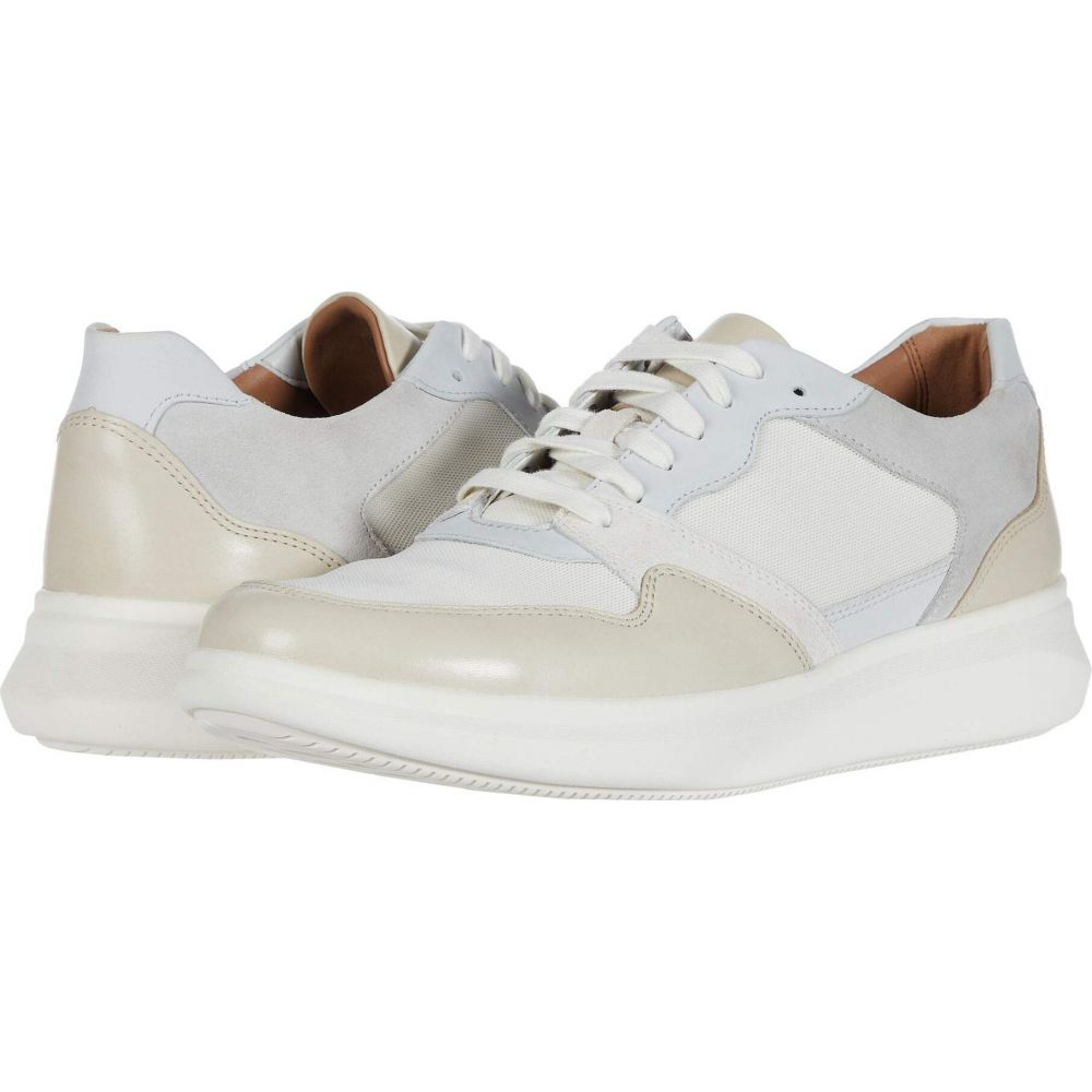 クラークス Clarks メンズ スニーカー シューズ・靴【Un Globe Run】White/Stone Leather/Text Combi