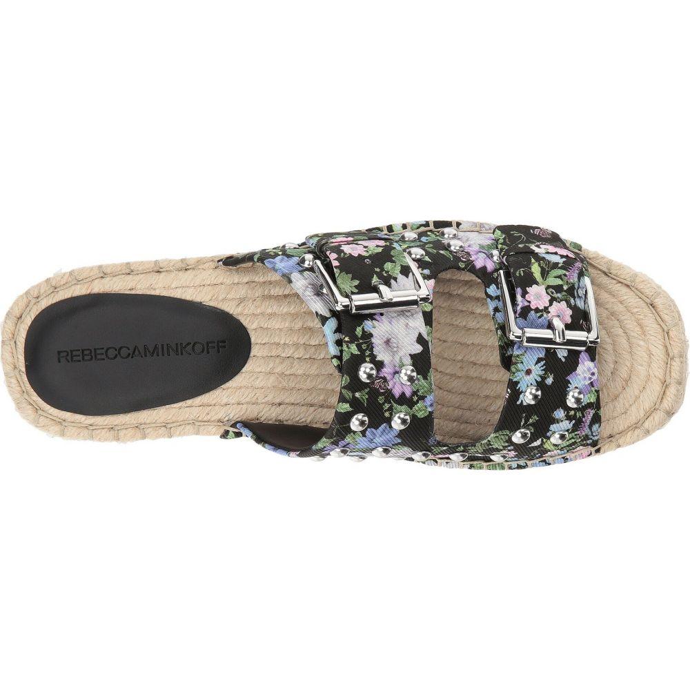 レベッカ ミンコフ Rebecca Minkoff レディース サンダル・ミュール シューズ・靴 Jodi Black Garden Floral SilkEHIYeDb29W