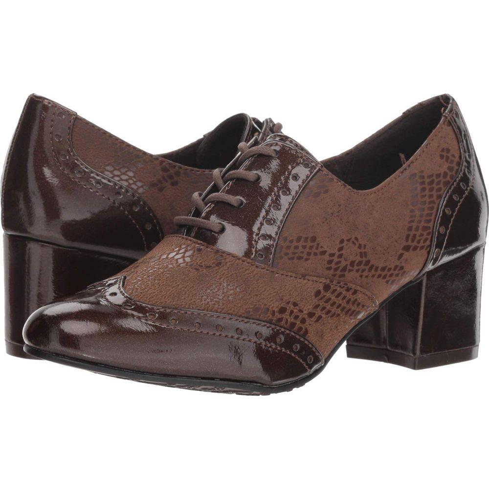ソフトスタイル Soft Style レディース ローファー・オックスフォード シューズ・靴【Gisele】Mid Brown Snake/Paerlized Patent