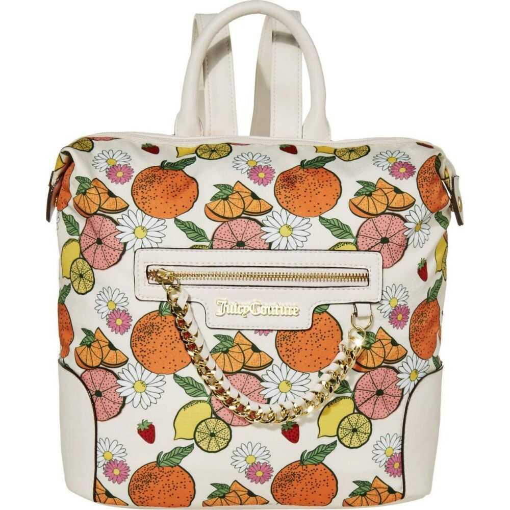 ジューシークチュール Juicy Couture レディース バックパック・リュック バッグ【Forbidden Fruit Backpack】Cream Citrus Print
