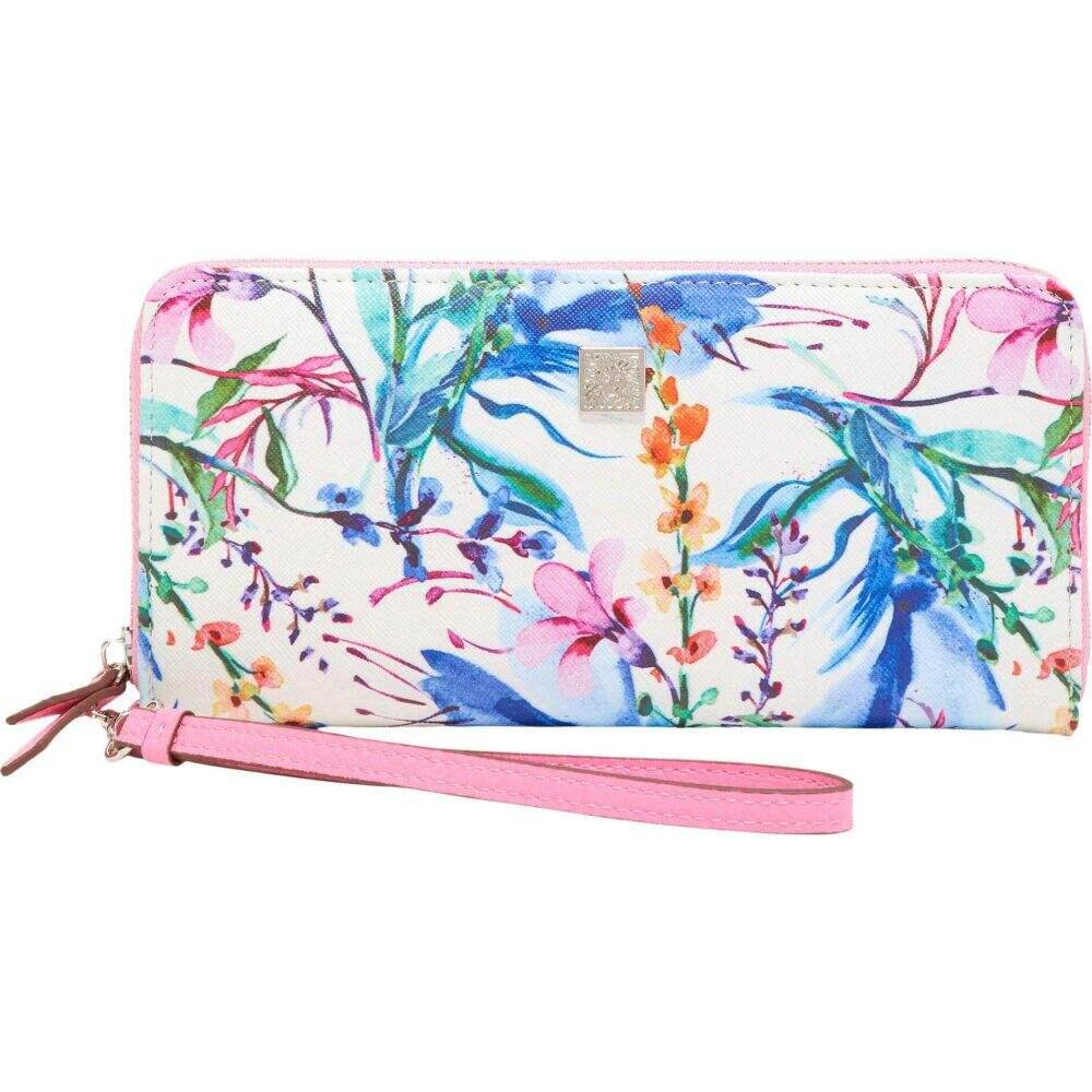 アン クライン Anne Klein レディース 財布 リストレット【Slim Zip Wallet w/ Wristlet】Floral