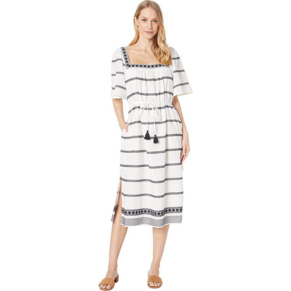 トリー バーチ Tory Burch Swimwear レディース ビーチウェア ワンピース・ドレス 水着・ビーチウェア【Embroidered Midi Dress Cover-Up】New Ivory/Tory Navy