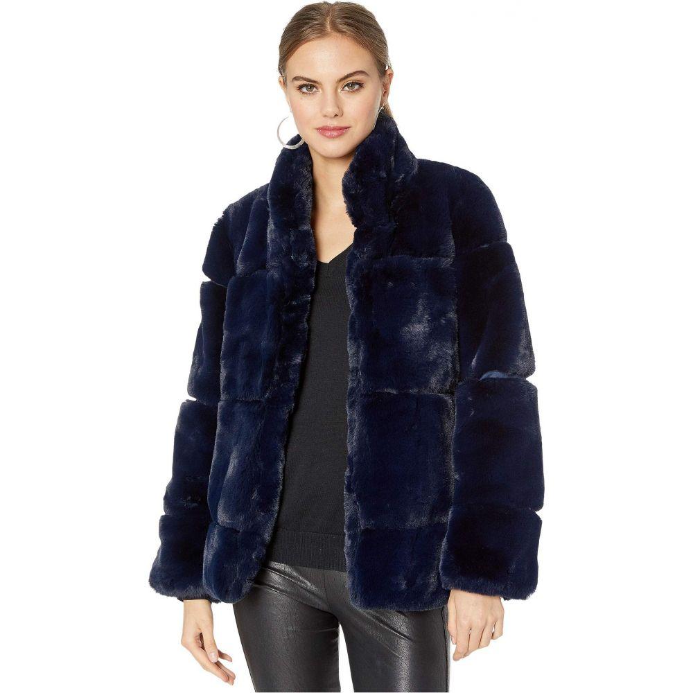 アパリス APPARIS レディース コート ファーコート アウター【Sarah 2 Faux Fur Coat】Navy Blue