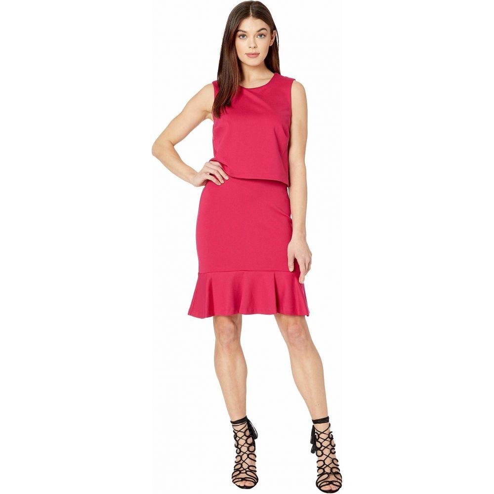 ニコルミラー Nicole Miller レディース ワンピース ワンピース・ドレス【Ponte Pop Over Dress】Fuchsia