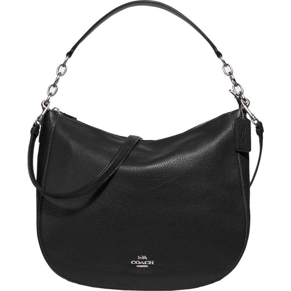 コーチ COACH レディース ショルダーバッグ バッグ【Pebbled Leather Elle Hobo】Black