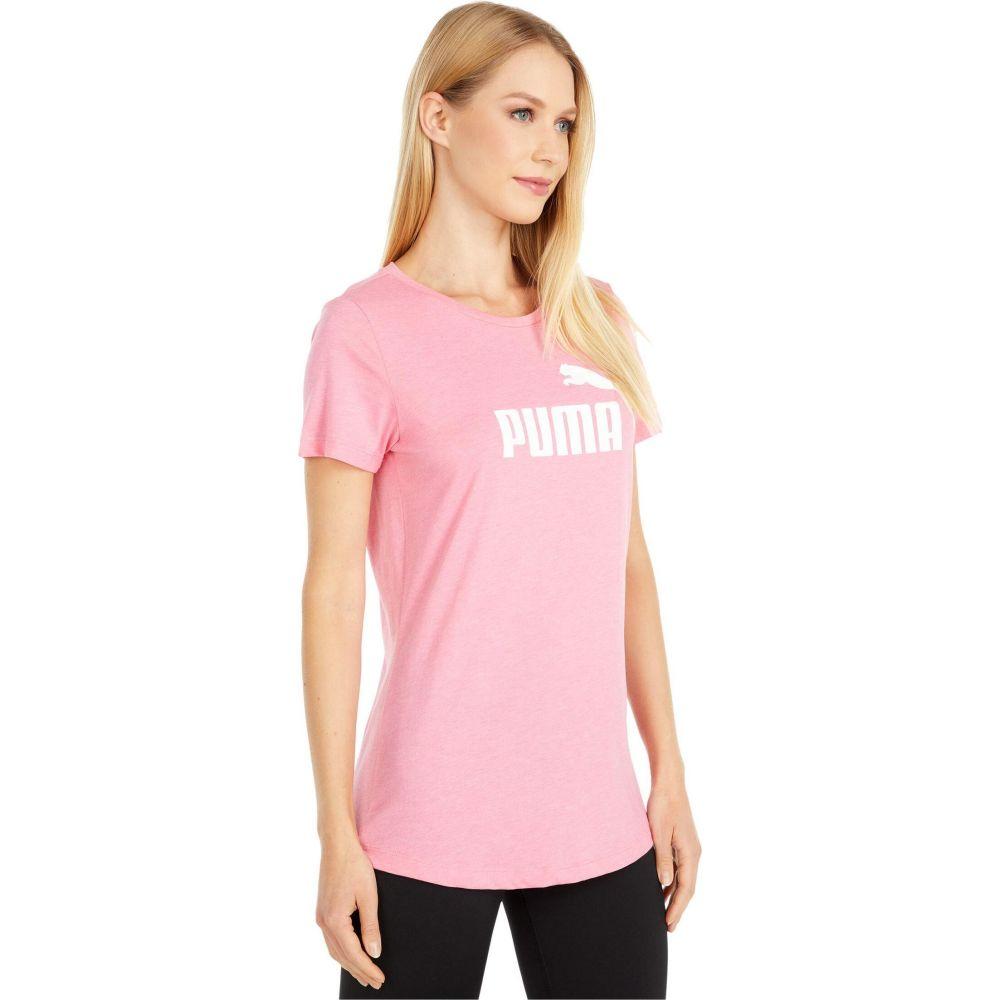 プーマ PUMA レディース Tシャツ ロゴTシャツ トップス EssentialLogo Heather Tee BubblegumK1cu5lJ3TF