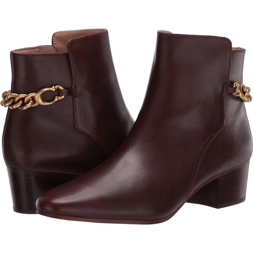 コーチ COACH レディース ブーツ シューズ・靴【Carissa C Chain Bootie】Walnut Leather