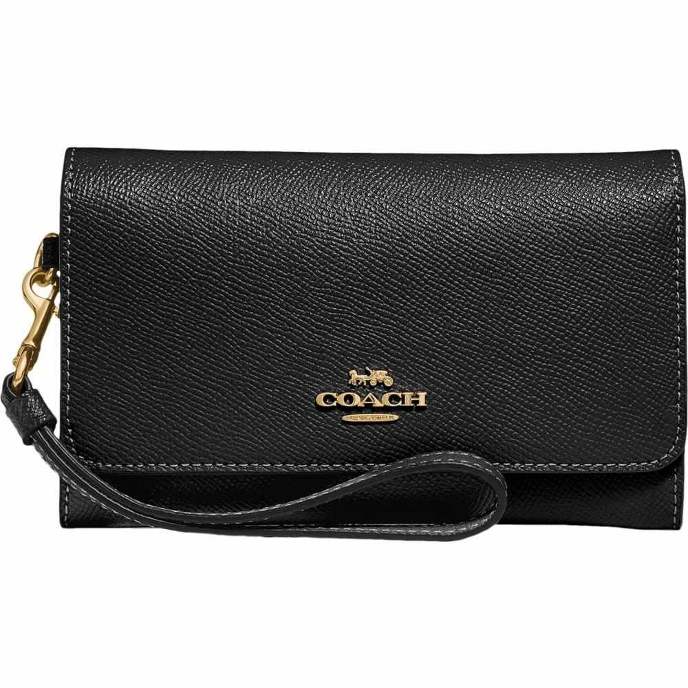 コーチ COACH レディース 財布 【Cross Grain Leather Flap Phone Wallet】Black