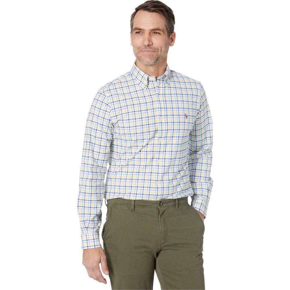 ラルフ ローレン Polo Ralph Lauren メンズ シャツ トップス【Slim Fit Stretch Oxford Shirt】Yellow/Navy Multi