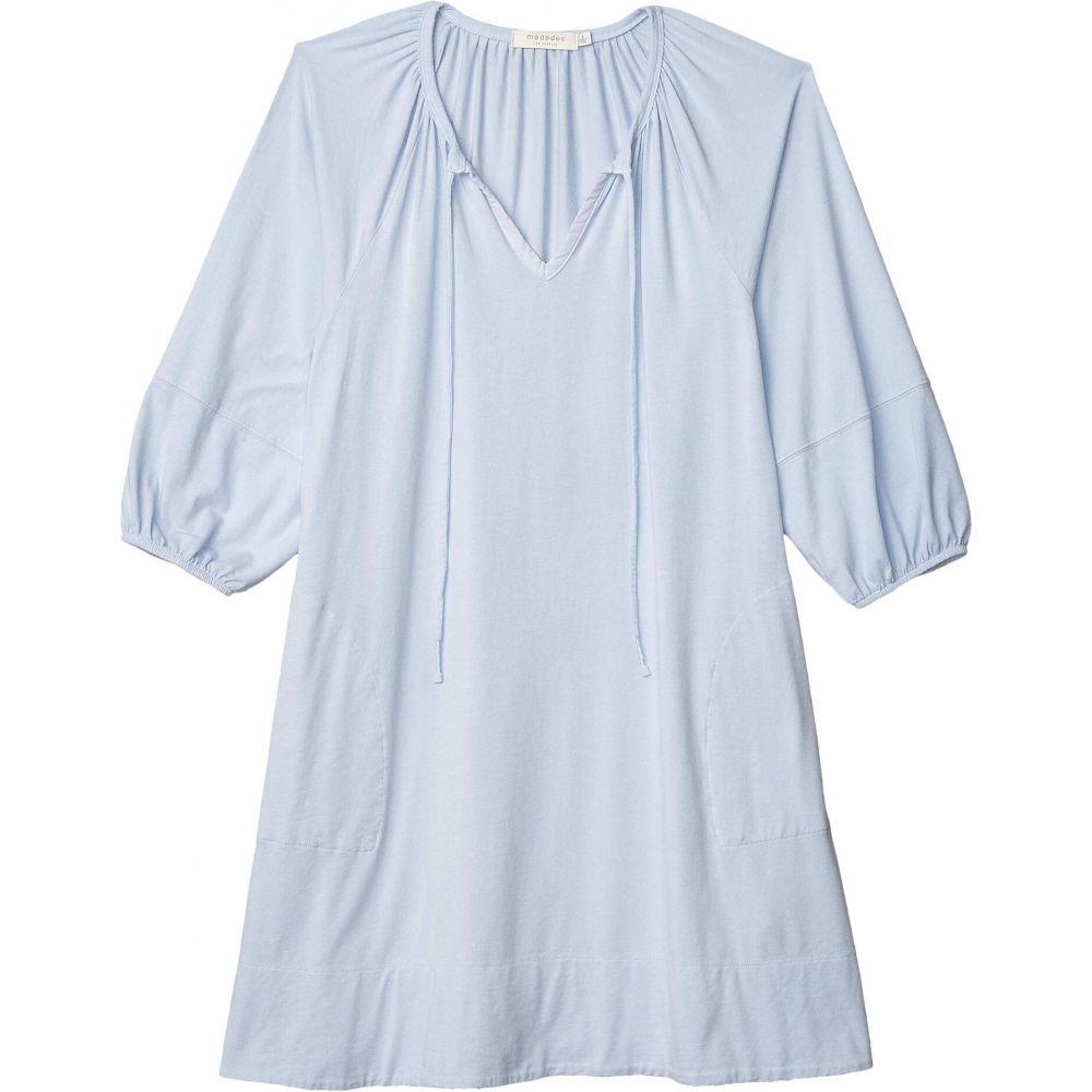 モドオードック Mod-o-doc レディース ワンピース ワンピース・ドレス【Cotton Modal Spandex Jersey Tie Front Swingy Peasant Dress】Pale Peri