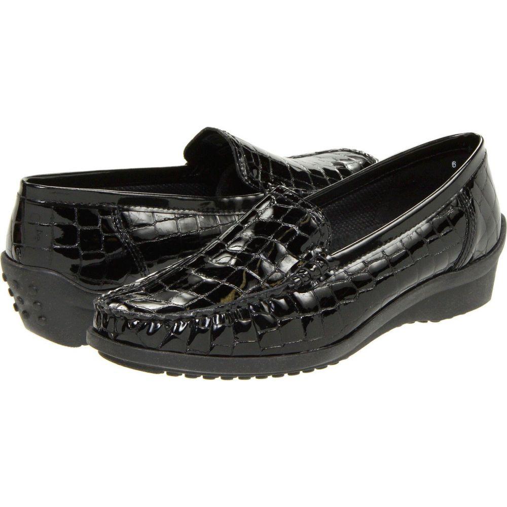 アラ ara レディース ローファー・オックスフォード シューズ・靴【Phoebe】Black Croco Patent