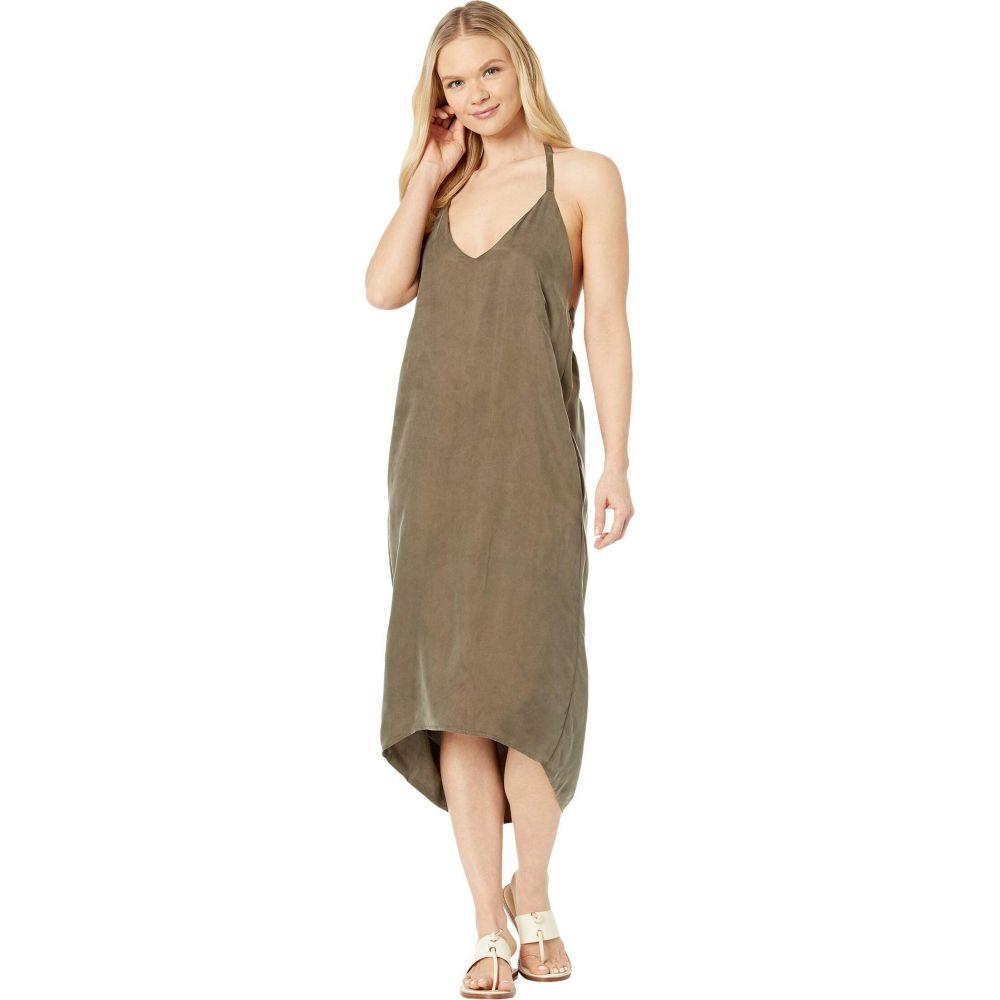 アメリカンローズ American Rose レディース ワンピース スリップドレス ワンピース・ドレス【Jade High-Low Halter Slip Dress】Olive