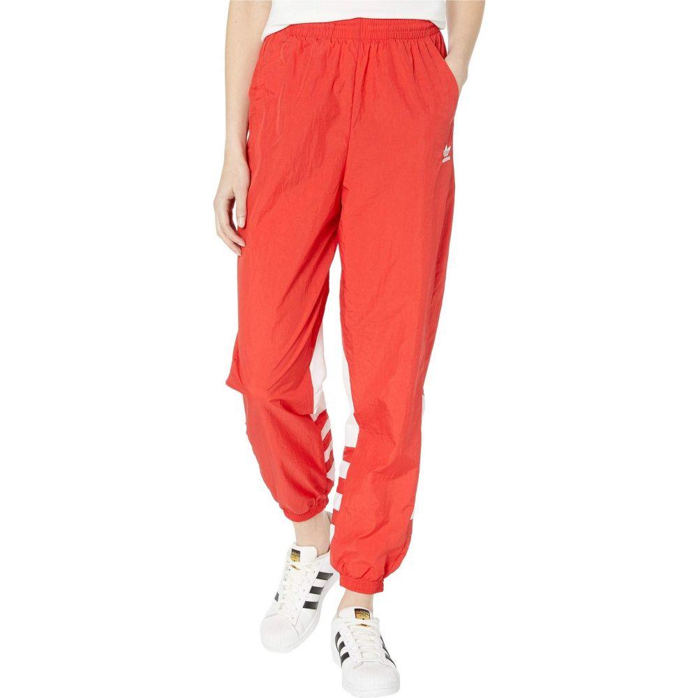 アディダス adidas Originals レディース スウェット・ジャージ ボトムス・パンツ【Large Logo Track Pants】Lush Red/White